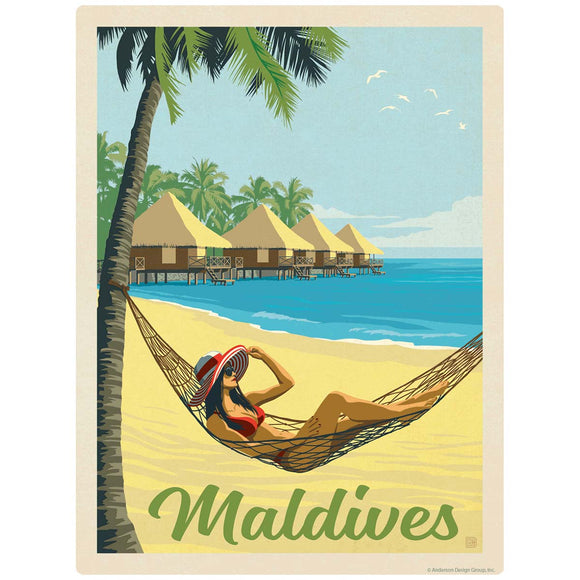 Maldives Hammock on the Beach Decal