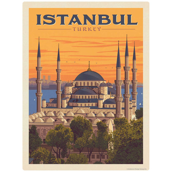 Istanbul Turkey Sultan Ahmed Mosque Decal