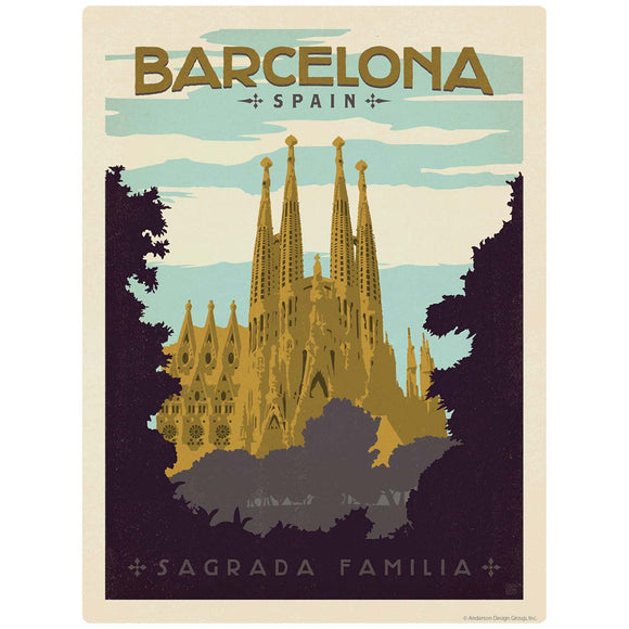 Barcelona Spain Sagrada Familia Church Decal