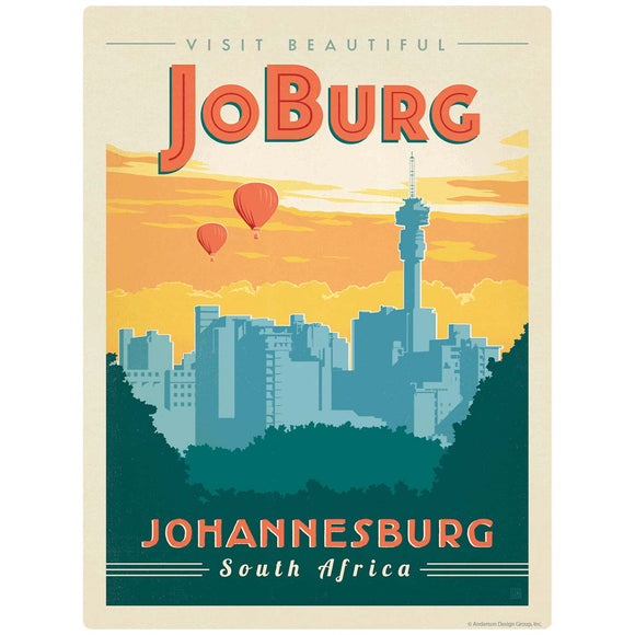 Visit JoBurg Johannesburg South Africa Decal