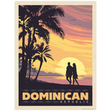 Dominican Republic Sunset Beach Decal