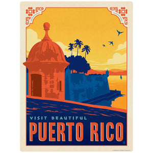 Visit Beautiful Puerto Rico Decal