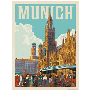 Munich Germany New Town Hall Decal