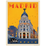 Madrid Spain Metropolis Building Decal