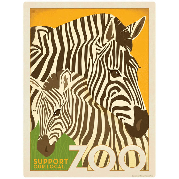 Zebras Support Our Local Zoo Decal