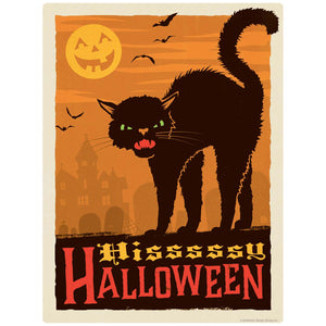 Hissy Halloween Black Cat Decal