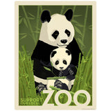 Panda Bears Support Our Local Zoo Decal Decal