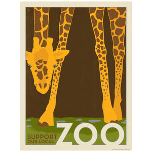 Giraffe Support Our Local Zoo Decal