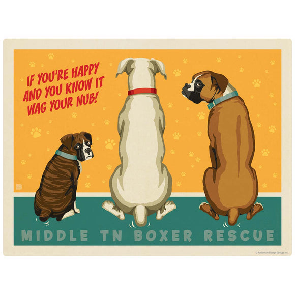 Middle TN Boxer Rescue Wag Your Nub Decal