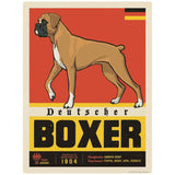 Deutscher Boxer Dog Facts Decal