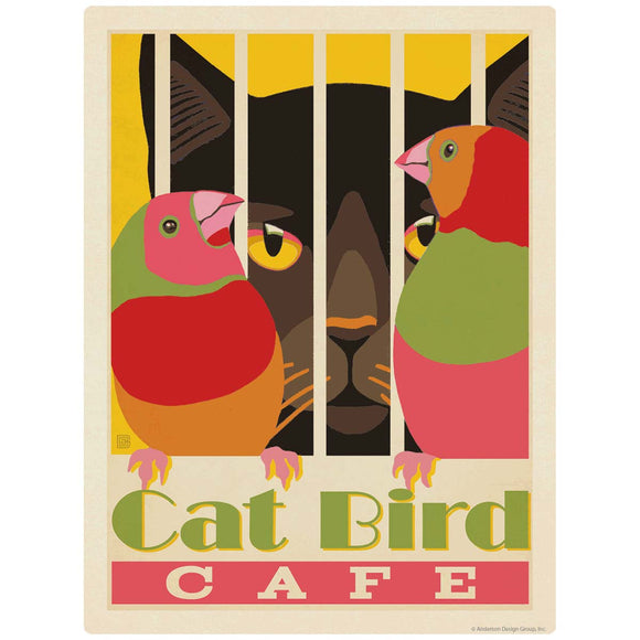 Catbird Cafe Decal