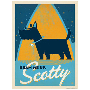 Beam Me Up Scotty Dog Decal