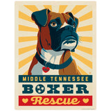 Middle TN Boxer Rescue Letterpress Decal