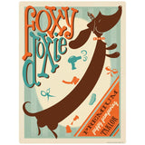 Foxy Doxie Dog Parlor Decal