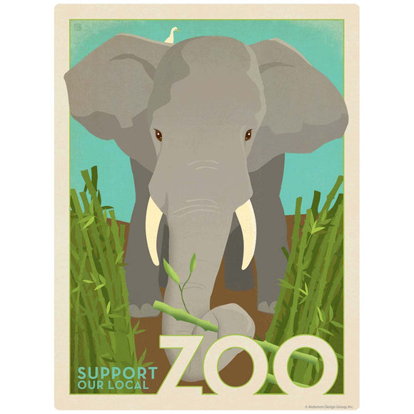 Elephant Support Our Local Zoo Decal