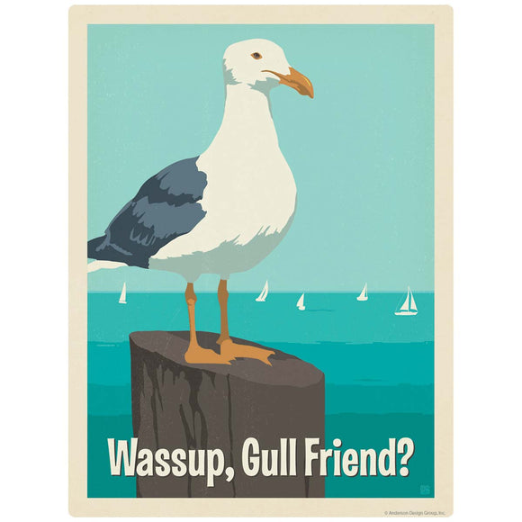 Wassup Gull Friend Seagull Decal