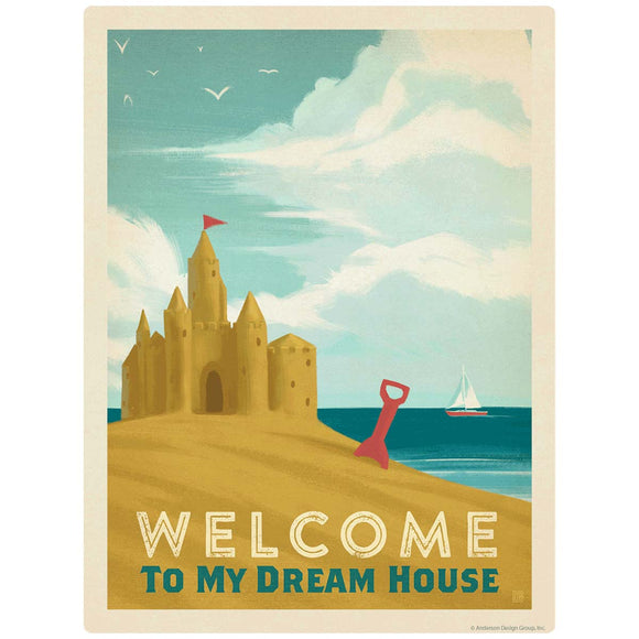 Sand Castle Welcome To My Dream House Decal