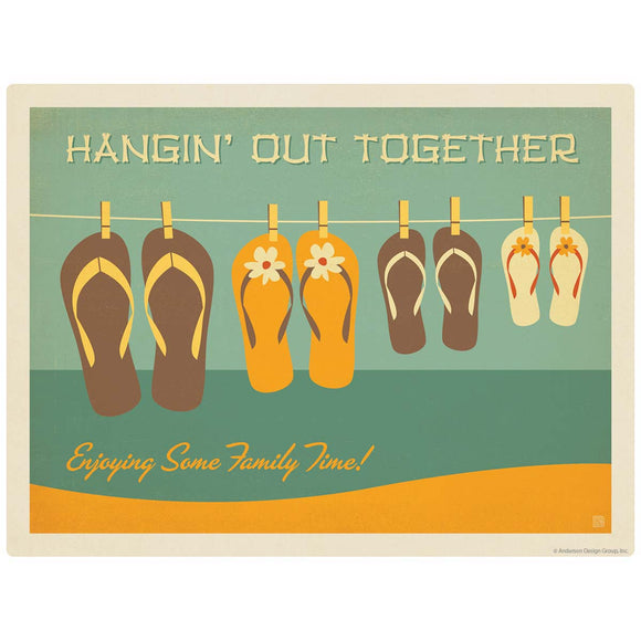 Flip Flops Hangin Out Beach Decal