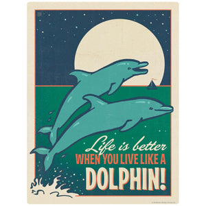 Live Like A Dolphin Decal