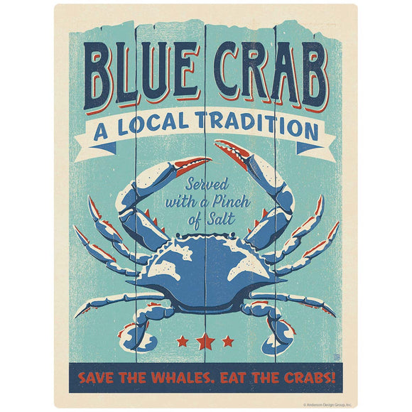 Blue Crab Served Decal