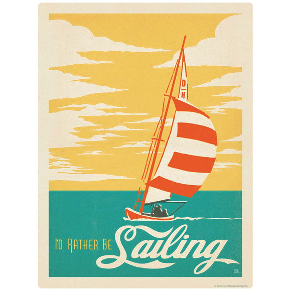 I Would Rather Be Sailing Decal
