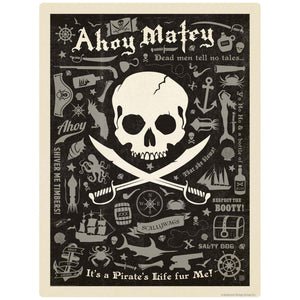 Ahoy Matey Pirate Pattern Decal