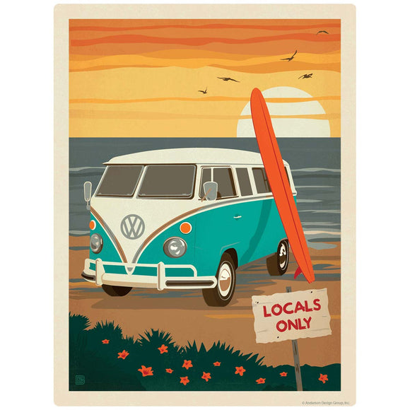 Locals Only Surf Van Decal