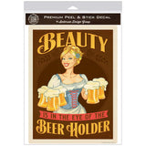 Beauty Beer Holder Decal