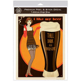 Beer Tall Dark Handsome Decal