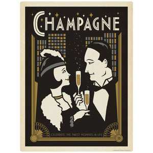 Champagne Finest Moments in Life Decal