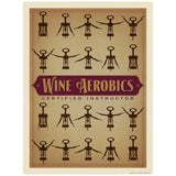 Wine Aerobics Certified Instructor Decal