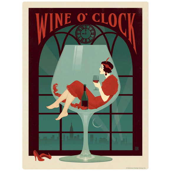 Wine O Clock Decal
