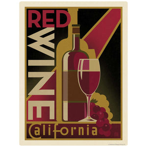 Red Wine California Decal