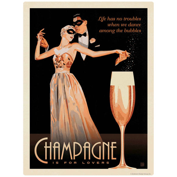 Champagne Is For Lovers Decal