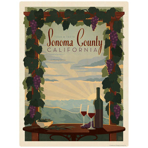 Sonoma County California Wine Decal