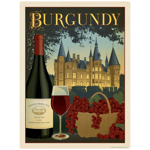 Burgundy French Chateau Wine Decal