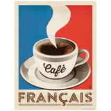 Cafe Francais French Flag Coffee Decal