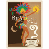 Cafe Do Brazil Coffee Decal