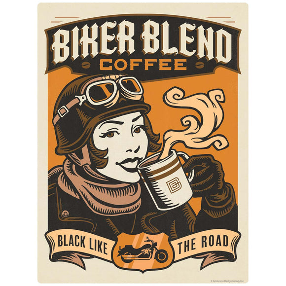 Biker Blend Coffee Decal
