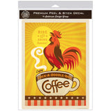 Cock-A-Doodle-Doo Coffee Rooster Decal