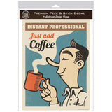 Instant Professional Coffee Decal