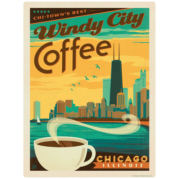 Windy City Coffee Chicago Illinois Decal