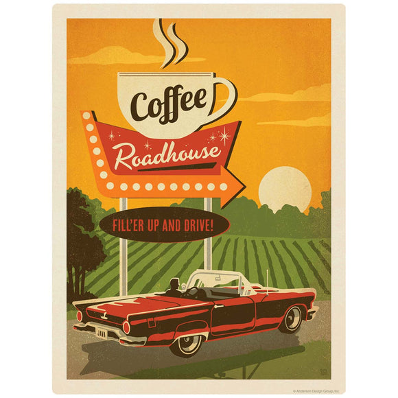 Coffee Roadhouse Diner Decal