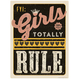 FYI Girls Totally Rule Decal