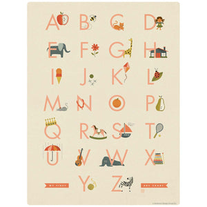 My First ABC Alphabet Chart Decal for Girls