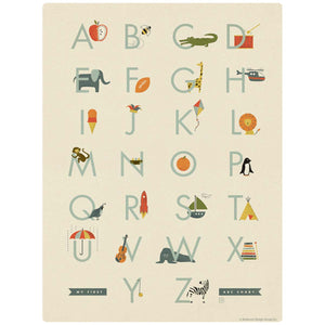 My First ABC Alphabet Chart Decal for Boys