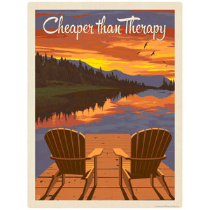 Cheaper Than Therapy Dock Chairs Decal