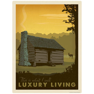 Log Cabin Luxury Living Decal