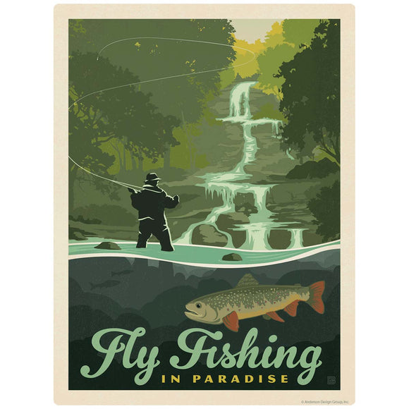 Fly Fishing Paradise Decal