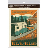 Travel By Trailer Camping Decal